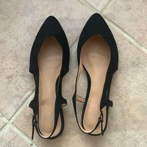 Zara flats leather shoes